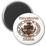 Pennsylvania Keystone State Seal 2 Inch Round Magnet