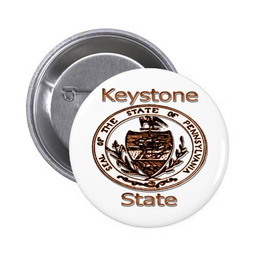 Pennsylvania Keystone State Seal Pin