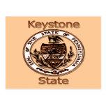 Pennsylvania Keystone State Seal Postcard
