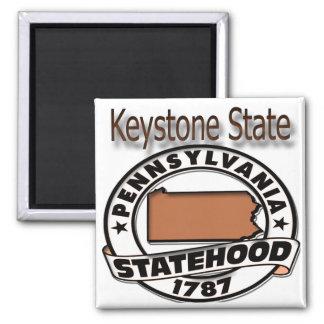Pennsylvania Keystone Statehood Magnet
