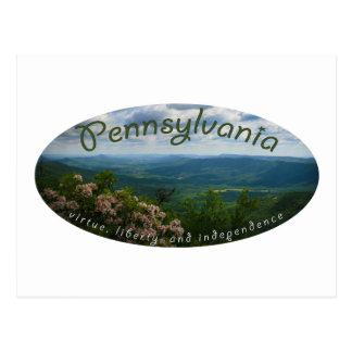 Pennsylvania liberty virtue independence postcard