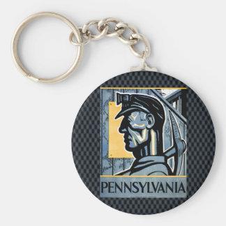 ¡Pennsylvania! Llavero Redondo Tipo Pin