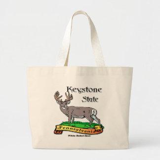 Pennsylvania los ciervos del estado trapezoidal bolsas de mano