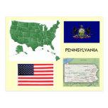 Pennsylvania, los E.E.U.U. Tarjeta Postal