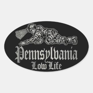PENNSYLVANIA LOW LIFE OVAL STICKER