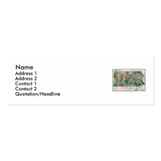 Pennsylvania Map and State Flag Double-Sided Mini Business Cards (Pack Of 20)
