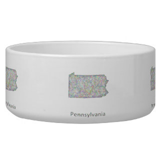 Pennsylvania map bowl