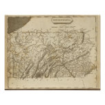 Pennsylvania Map by Arrowsmith Posters