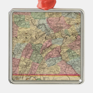 Pennsylvania Map by Mitchell Metal Ornament