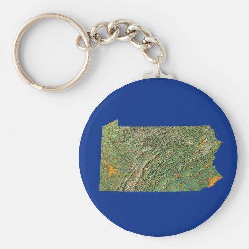 Pennsylvania Map Keychain