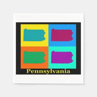 Pennsylvania Map Napkin
