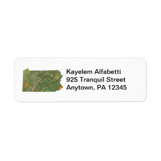 Pennsylvania Map Return Address Label