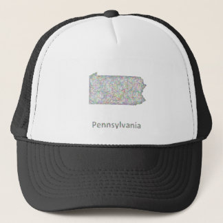Pennsylvania map trucker hat