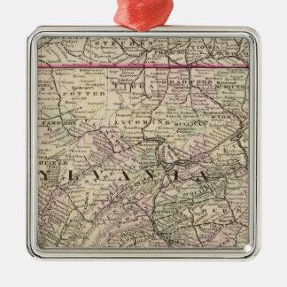 Pennsylvania, Maryland, New Jersey, Delaware Metal Ornament