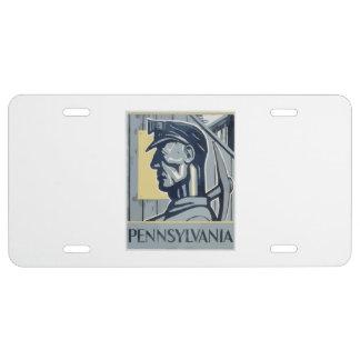Pennsylvania Miner License Plate