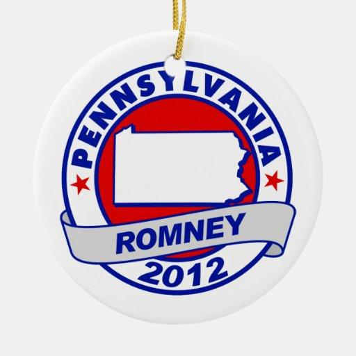 Pennsylvania Mitt Romney Christmas Ornament