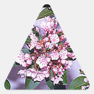 Pennsylvania Mountain Laurel Triangle Sticker
