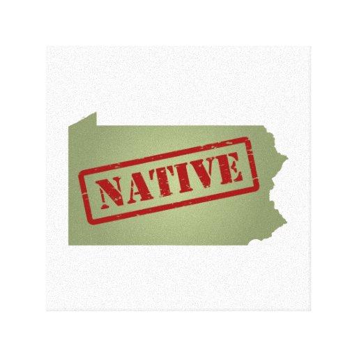 Pennsylvania Native with Pennsylvania Map Gallery Wrap Canvas