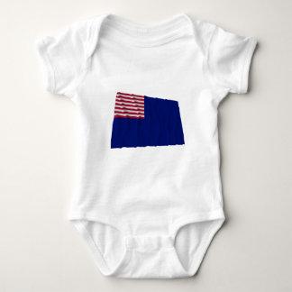 Pennsylvania Navy Flag Baby Bodysuit