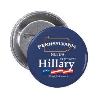 Pennsylvania necesita el botón de Hillary Pin