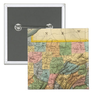 Pennsylvania, New Jersey 2 Pin Cuadrada 5 Cm
