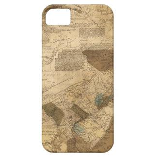 Pennsylvania New Jersey New York Map (1752) iPhone SE/5/5s Case