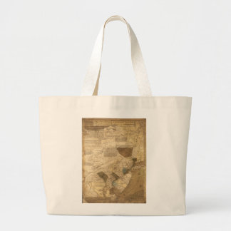Pennsylvania New Jersey New York Map (1752) Large Tote Bag