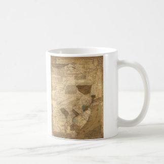 Pennsylvania New Jersey New York Map (1752) Classic White Coffee Mug