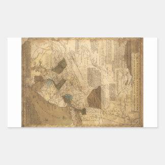 Pennsylvania New Jersey New York Map (1752) Rectangular Sticker