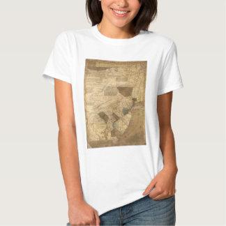 Pennsylvania New Jersey New York Map (1752) T Shirt