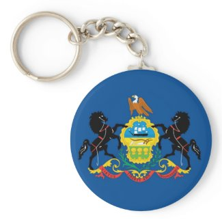 Pennsylvania Official State Flag keychain