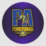 Pennsylvania (PA) Classic Round Sticker