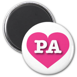 Pennsylvania PA hot pink heart Refrigerator Magnets