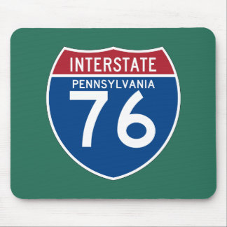 Pennsylvania PA I-76 Interstate Highway Shield - Mouse Pad