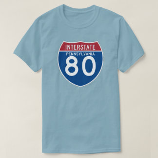 Pennsylvania PA I-80 Interstate Highway Shield - T-Shirt