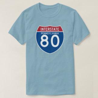 Pennsylvania PA I-80 Interstate Highway Shield - T-Shirt