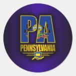 Pennsylvania (PA) Pegatinas Redondas