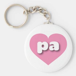 Pennsylvania pa pink heart basic round button keychain