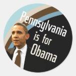 Pennsylvania para el pegatina de Obama