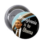 Pennsylvania para Obama Pin