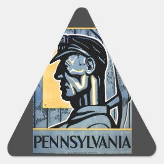 ¡Pennsylvania! Calcomanía De Trianguladas