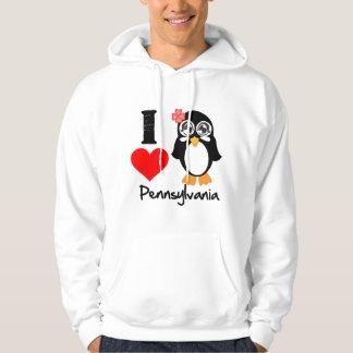 Pennsylvania Penguin - I Love Pennsylvania Hooded Sweatshirt