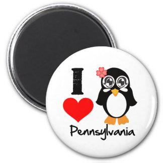 Pennsylvania Penguin - I Love Pennsylvania Refrigerator Magnet