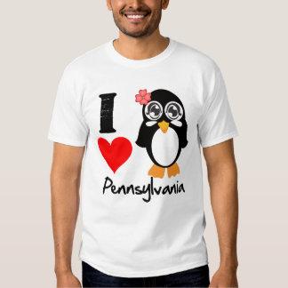 Pennsylvania Penguin - I Love Pennsylvania T Shirt