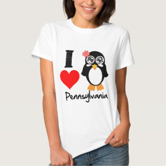 Pennsylvania Penguin - I Love Pennsylvania Tshirts