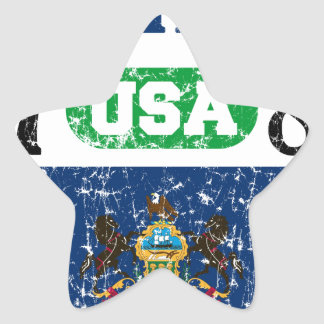PENNSYLVANIA PERFECT TOGETHER DISTRESSED PRODUCTS STAR STICKER