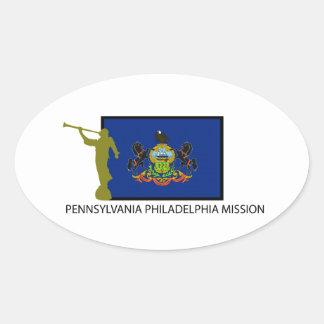 PENNSYLVANIA PHILADELPHIA MISSION LDS CTR OVAL STICKER