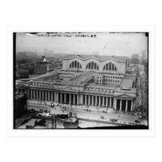 Pennsylvania Rail Road Station NY Vintage Postcard