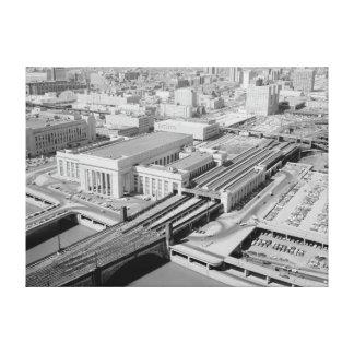 Pennsylvania Railroad 30th Street Station Stretched Canvas Print
