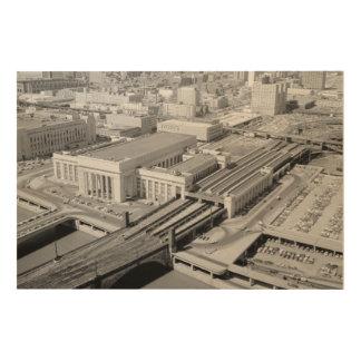 Pennsylvania Railroad 30th Street Station Woodsnap Wood Prints